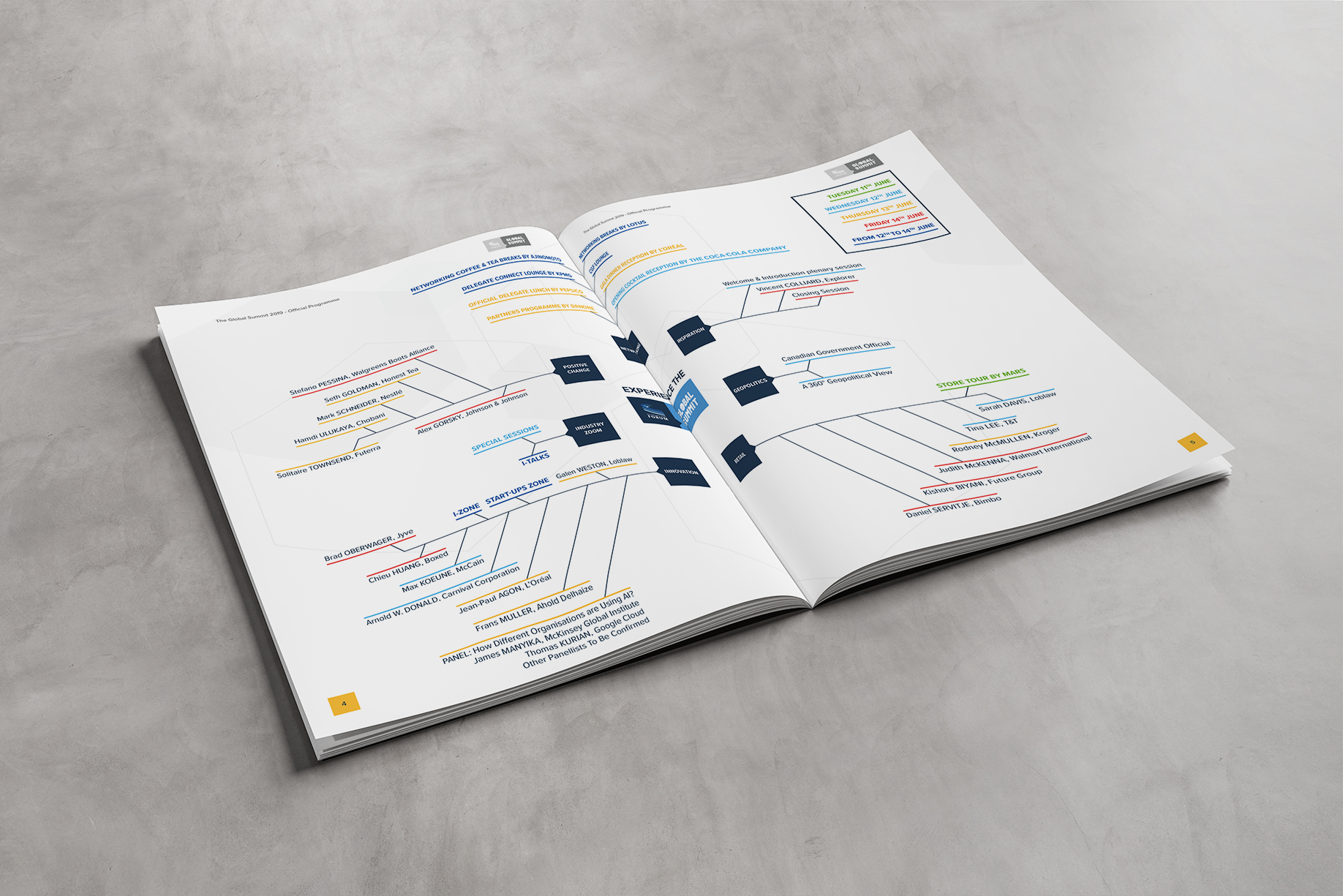 Inner Infographic Page of the Programme of the Global Summit 2019